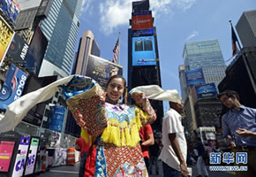Peking opera actresses stage performances in NYC
